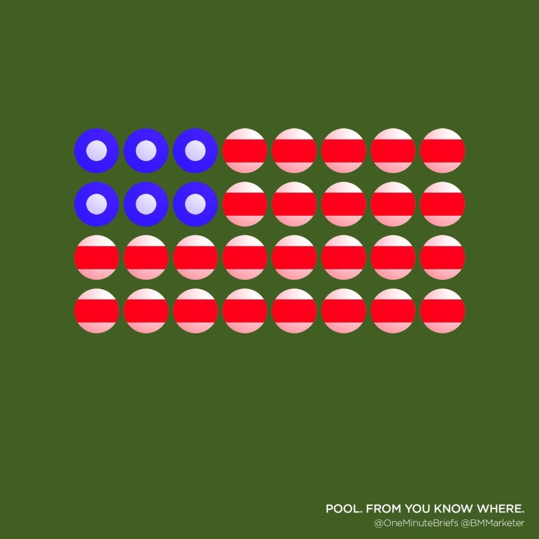 Advertising concept for American pool - visual idea