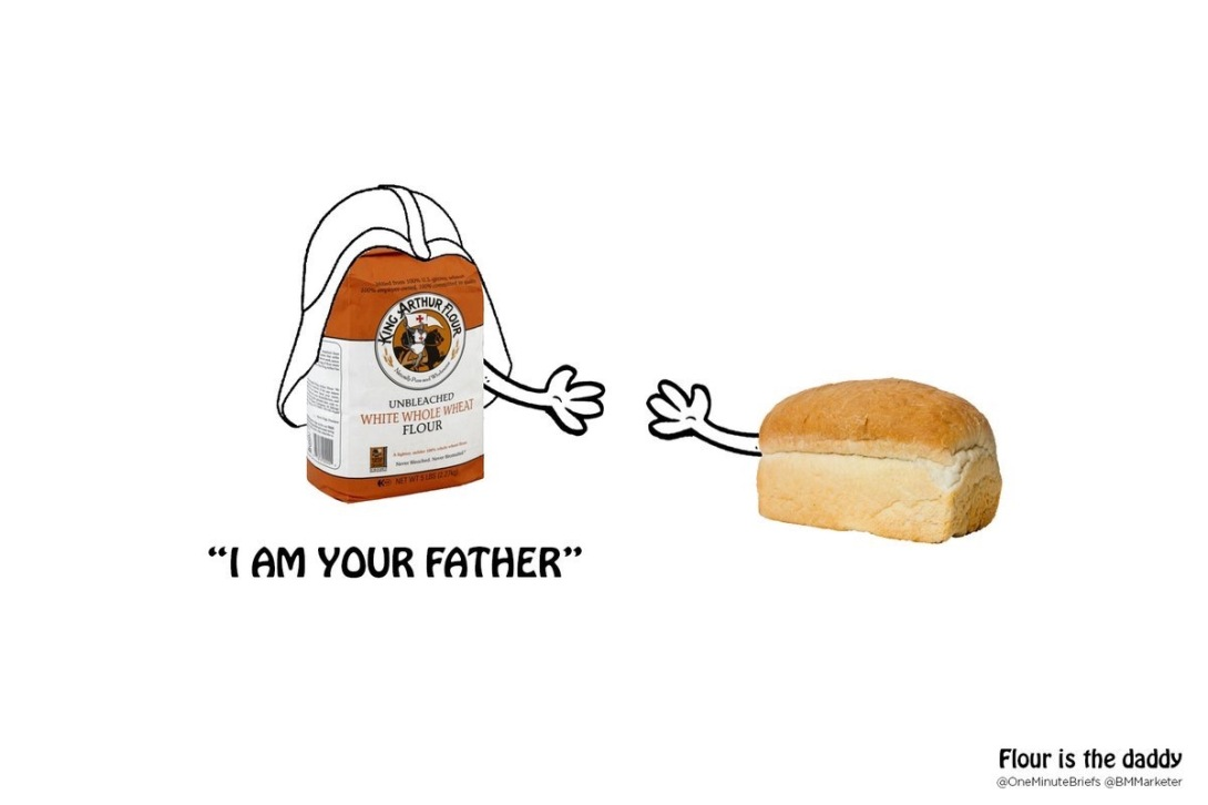 Advertising concept for flour - star wars parody