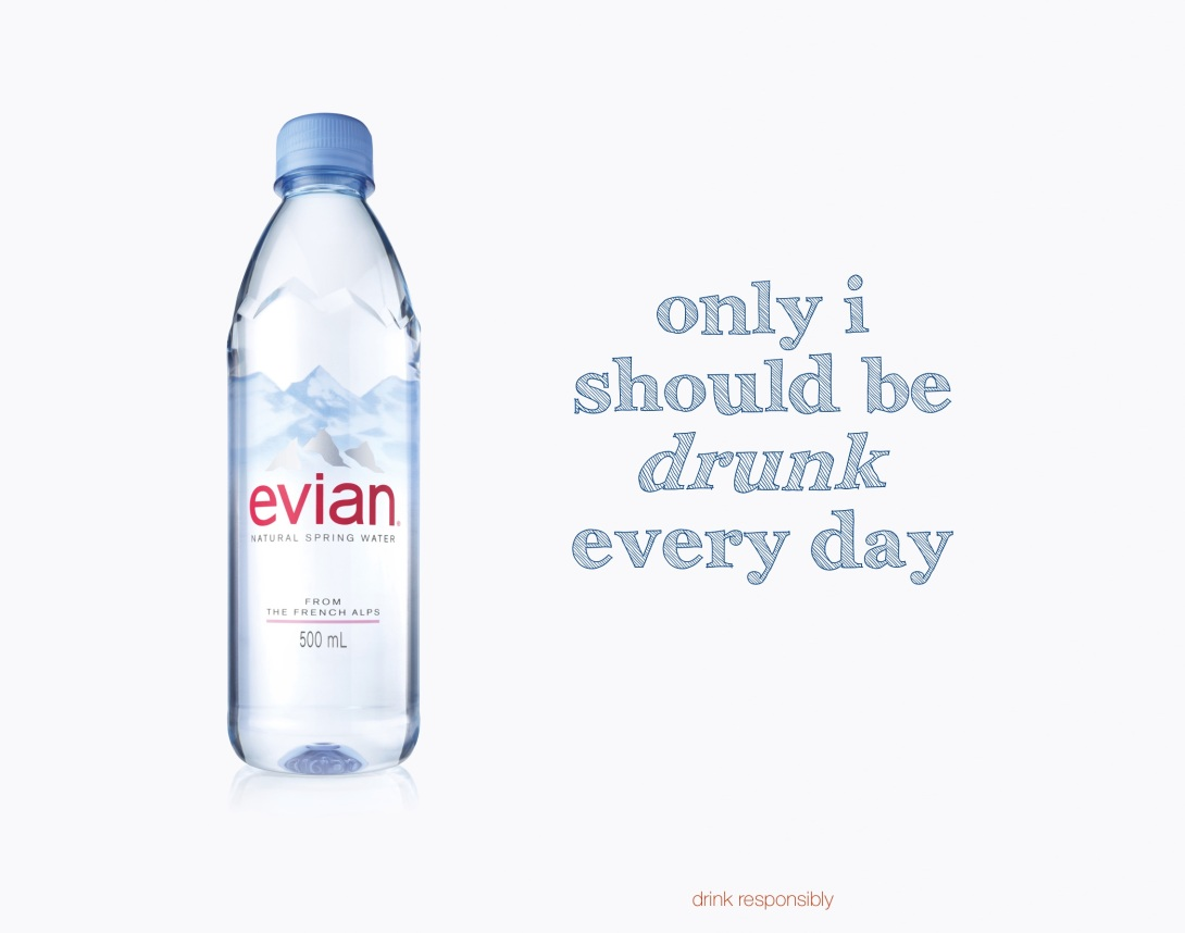 Water advert concept