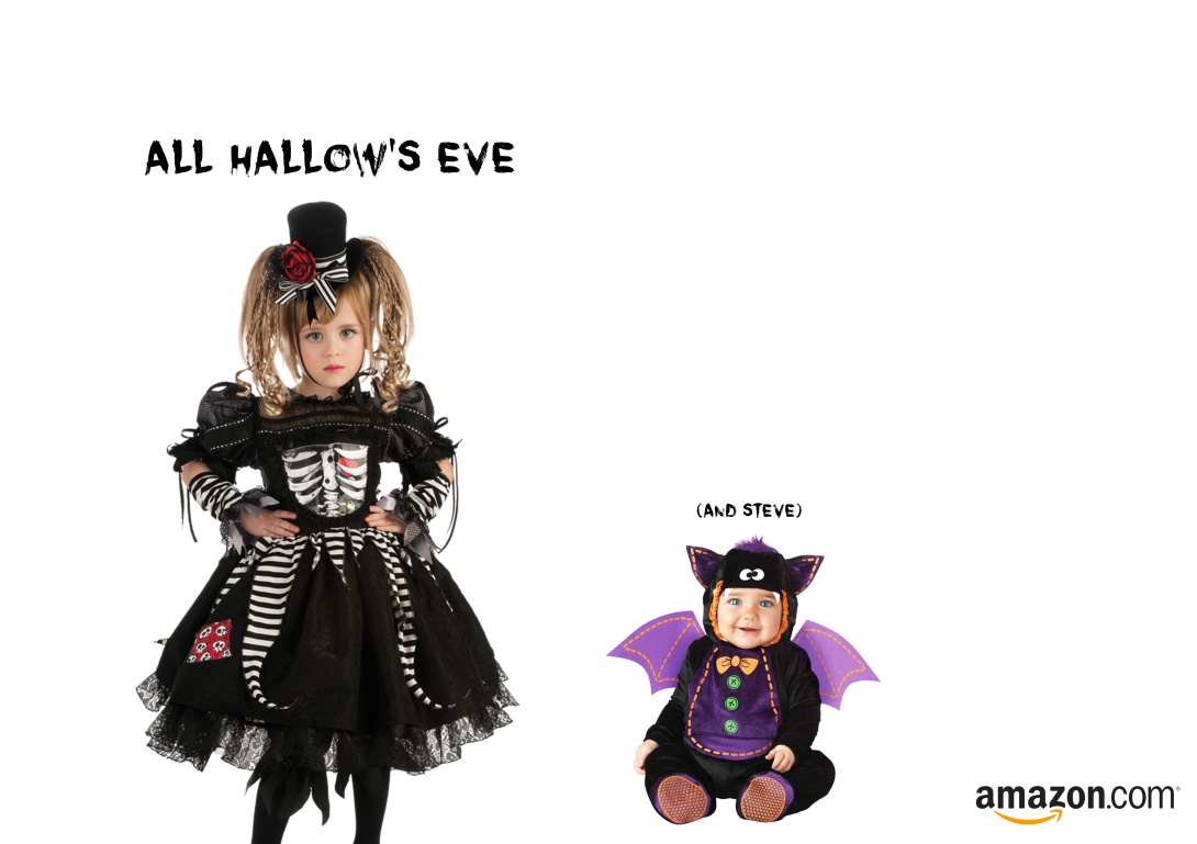 Advert for halloween costumes