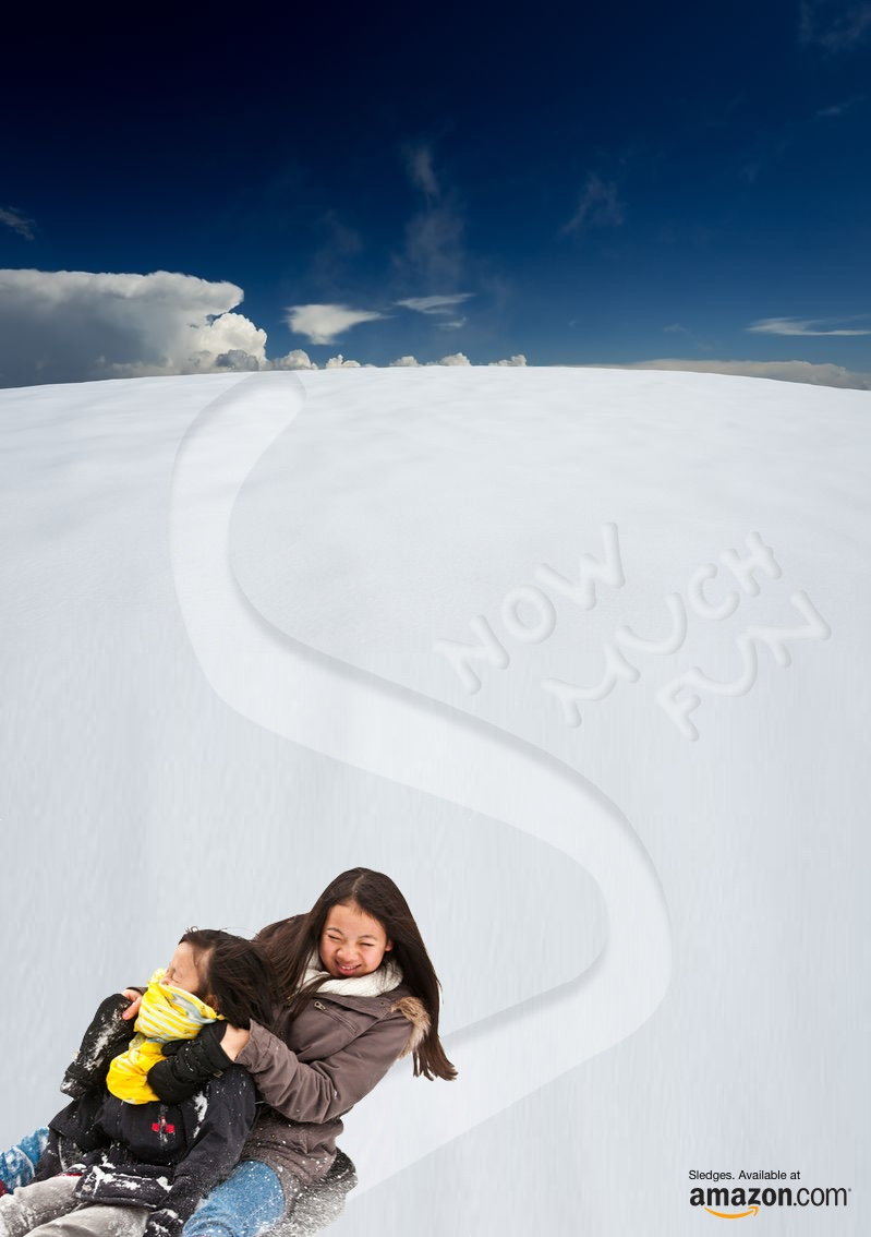 Advert concept for sledges