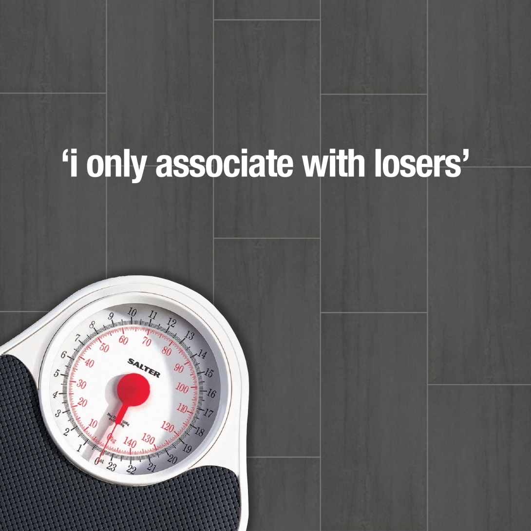 advertising concept for weighing scales