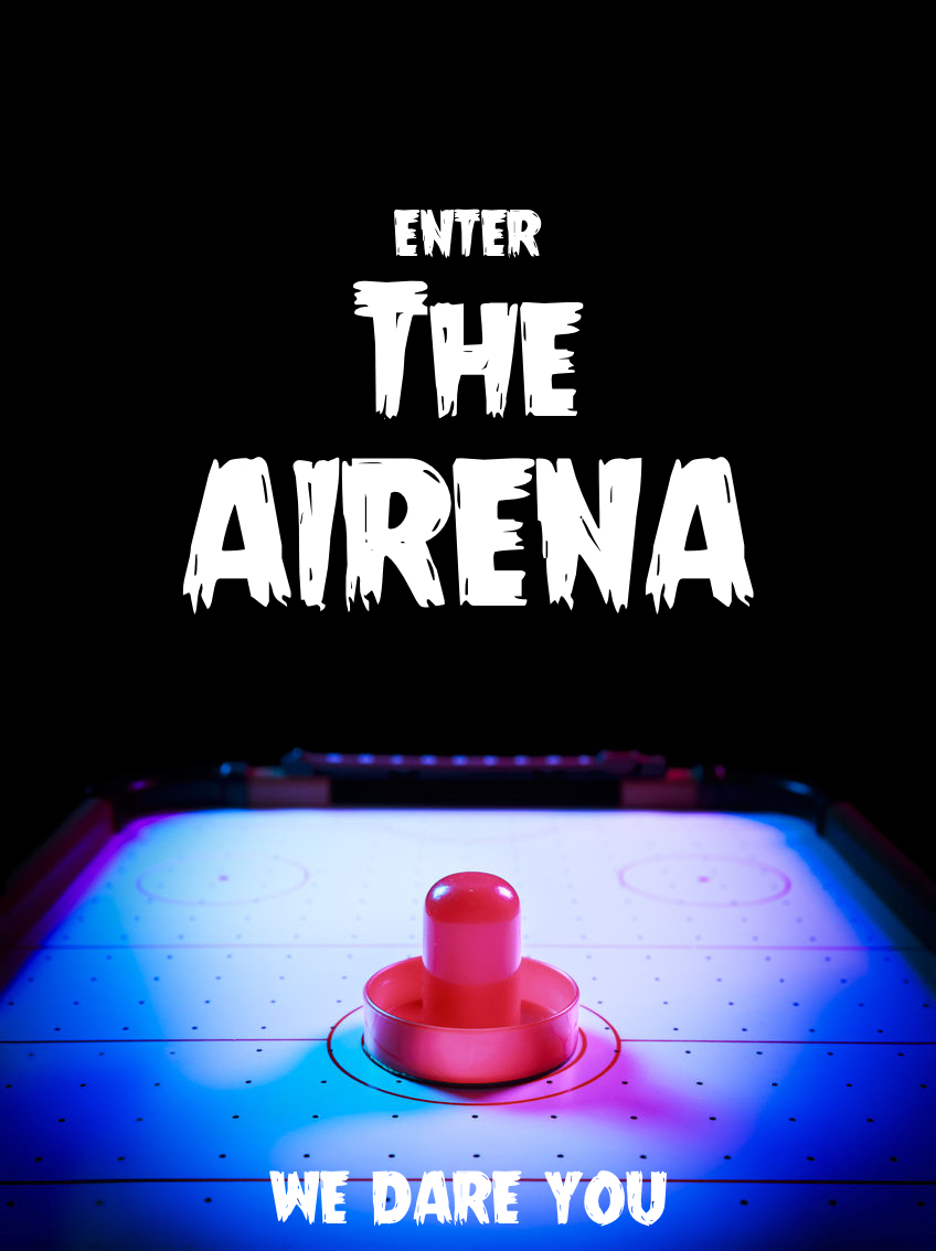 Advertising concept for air hockey - enter the airena