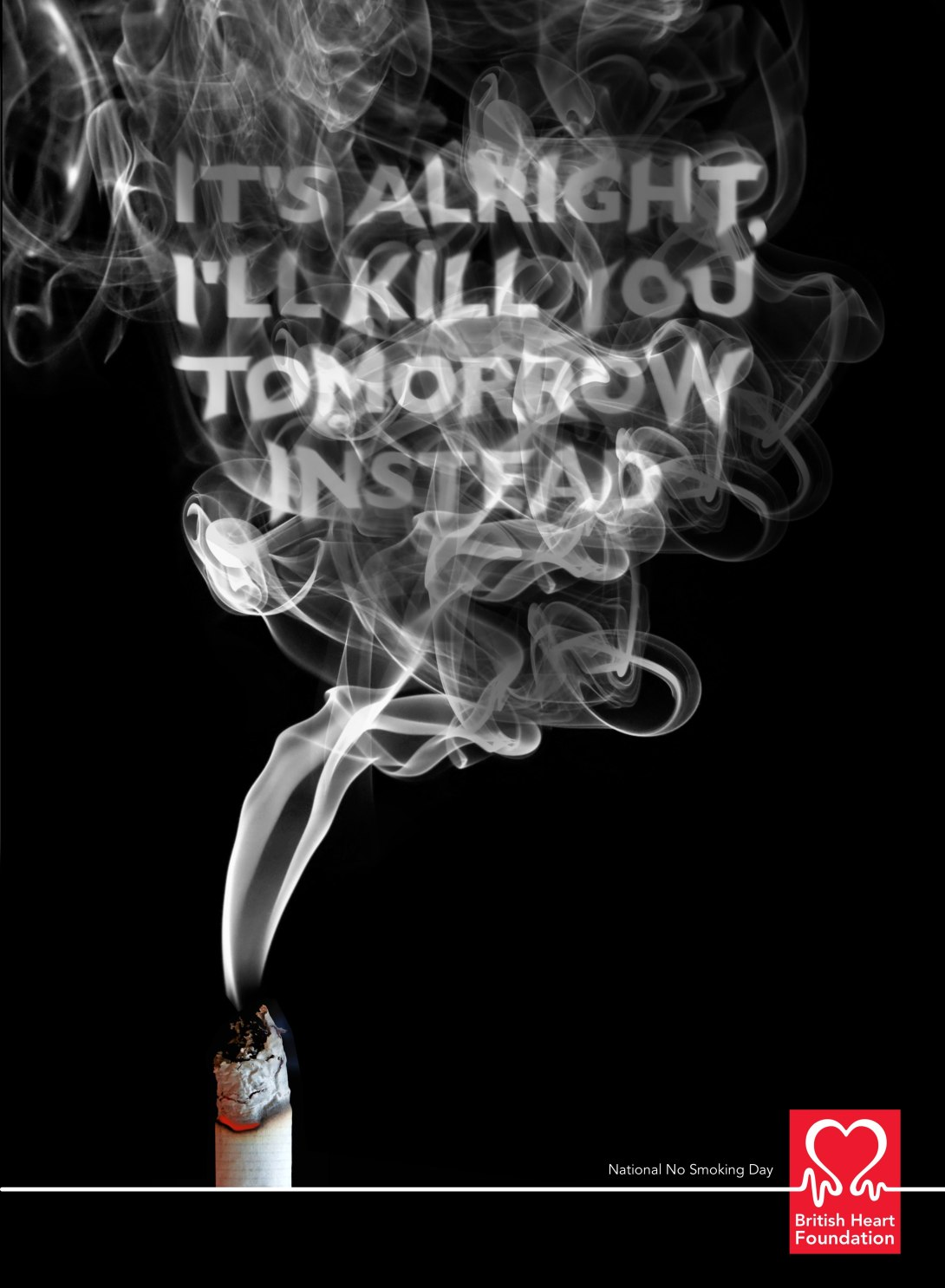 Advertising idea for National No Smoking Day
