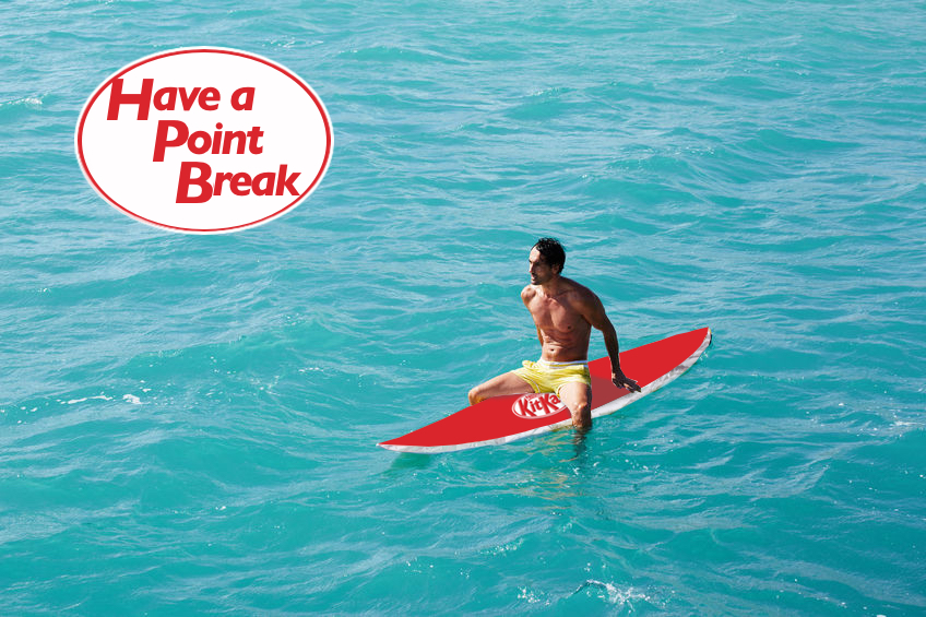 KitKat advertising idea for surfing