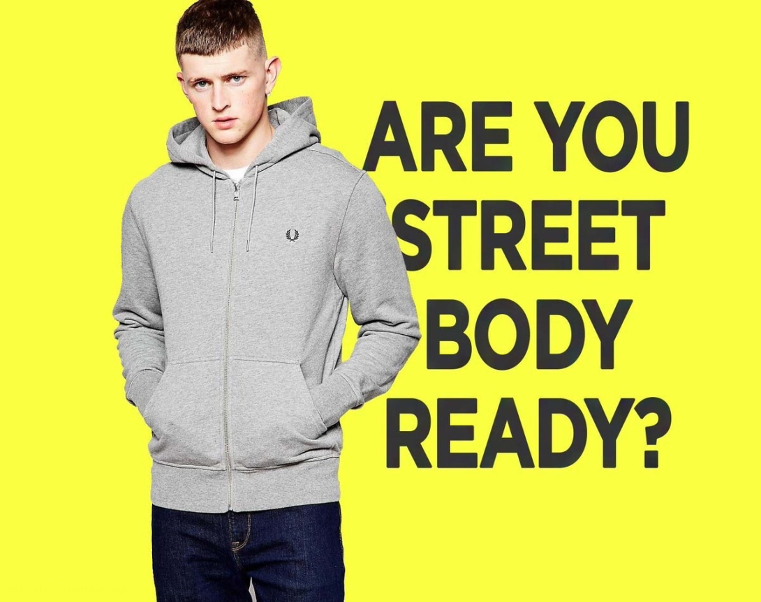 Ad concept for hoodies - street body ready