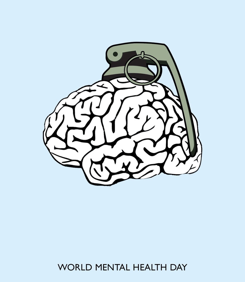 Ad concept for World Mental Health Day - brain grenade