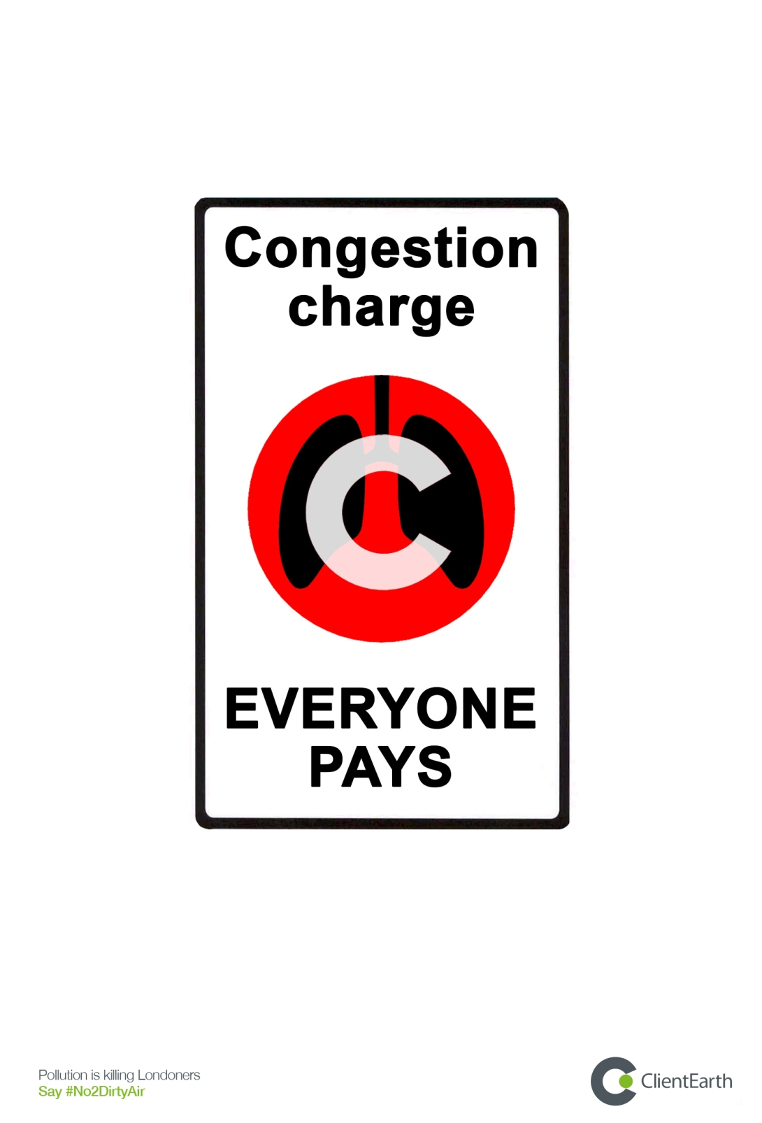 advertising concept to raise awareness of pollution in cities - congestion charge