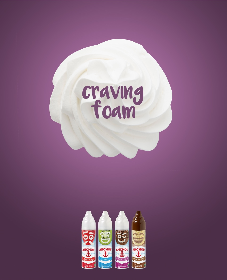 advertising concept for shaving foam - craving foam