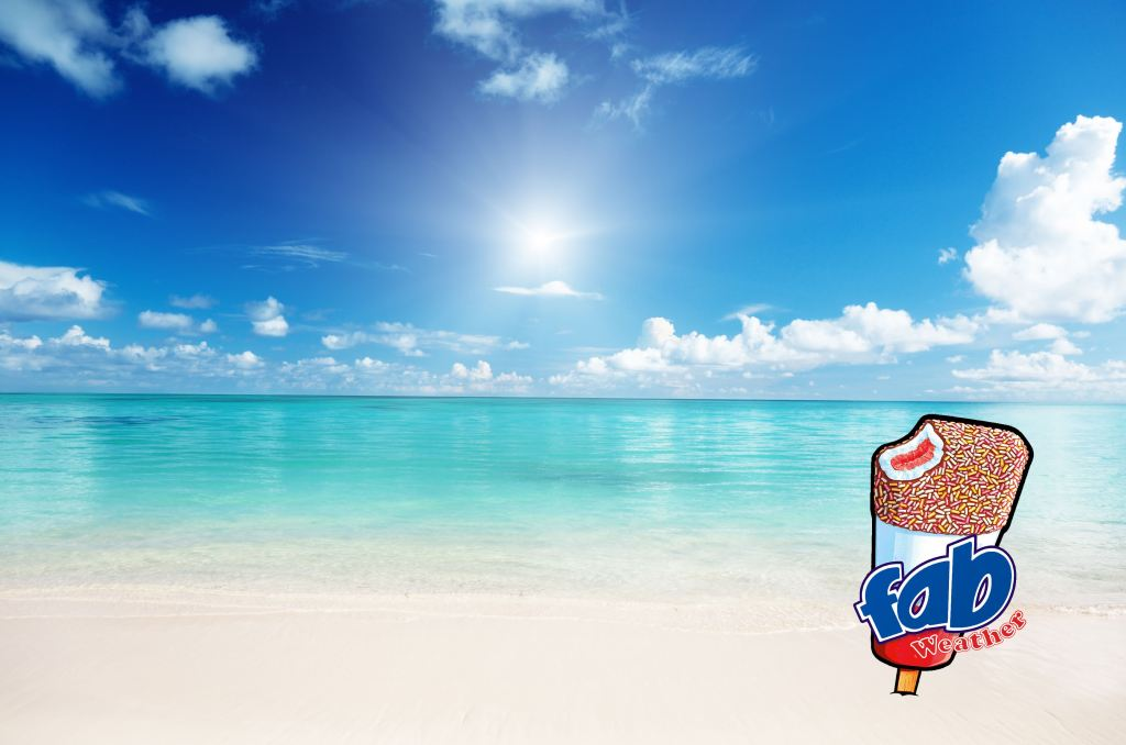advertising concept for ice lollies - fab weather