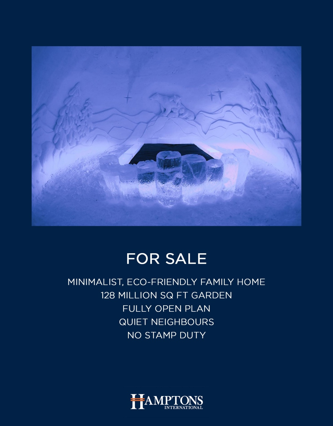 igloo advertising concept - estate agent idea