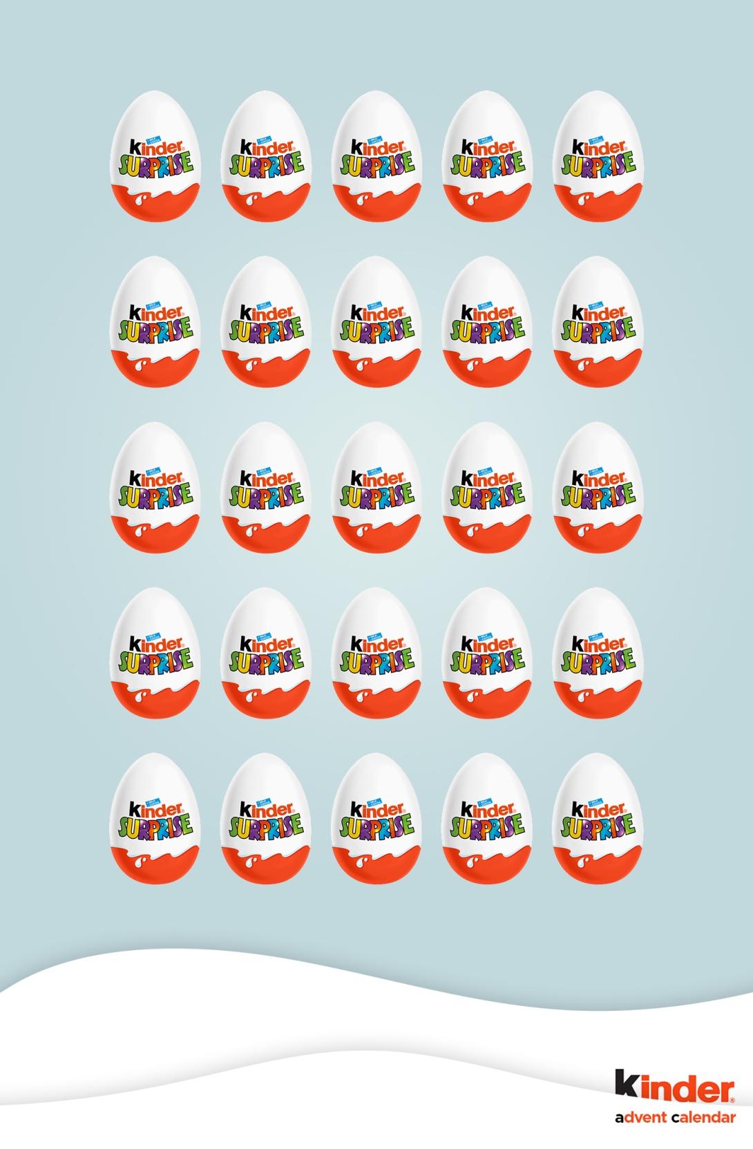 advertising idea for advent calendars - kinder surprise