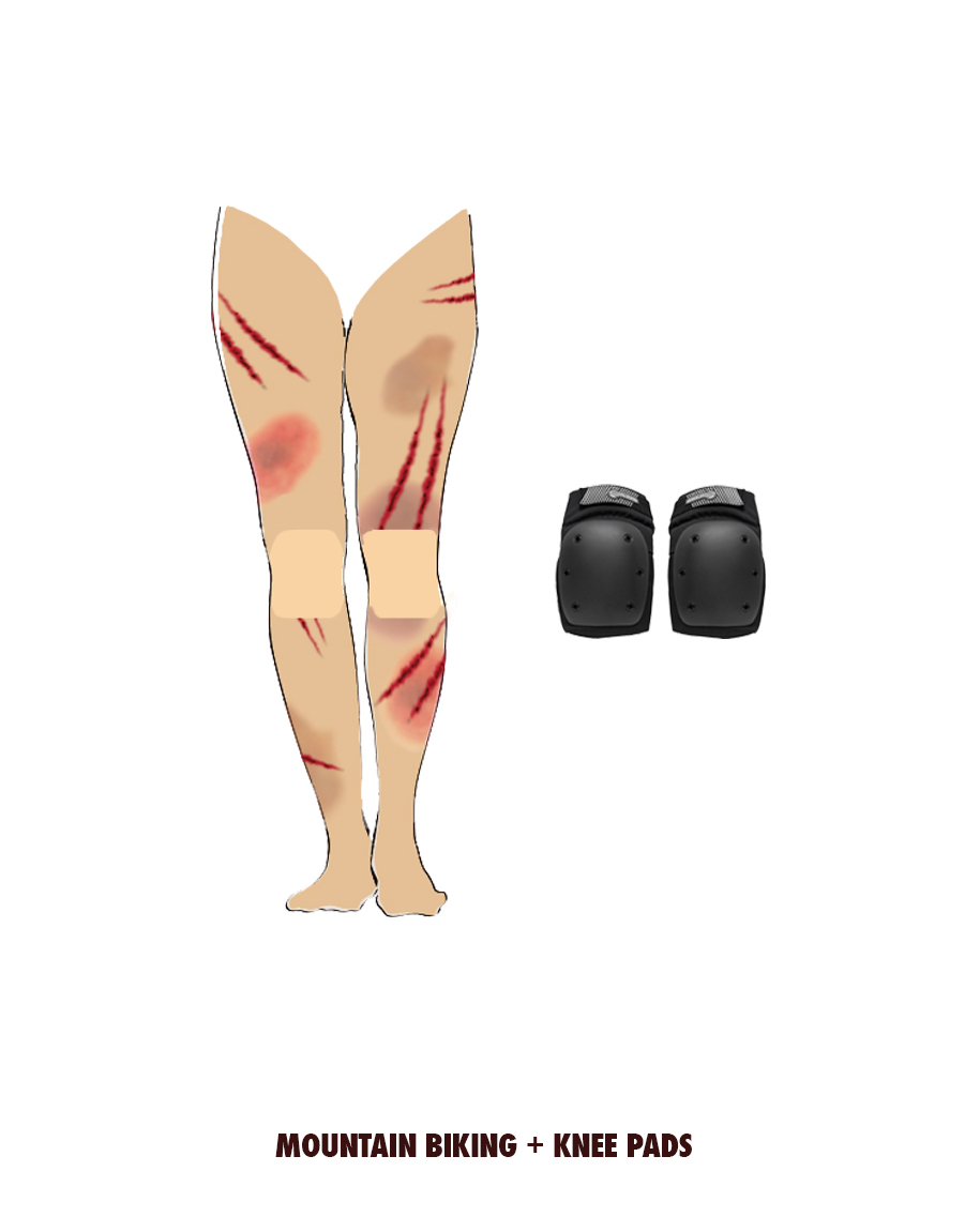 A very rough advertising concept for knee pads