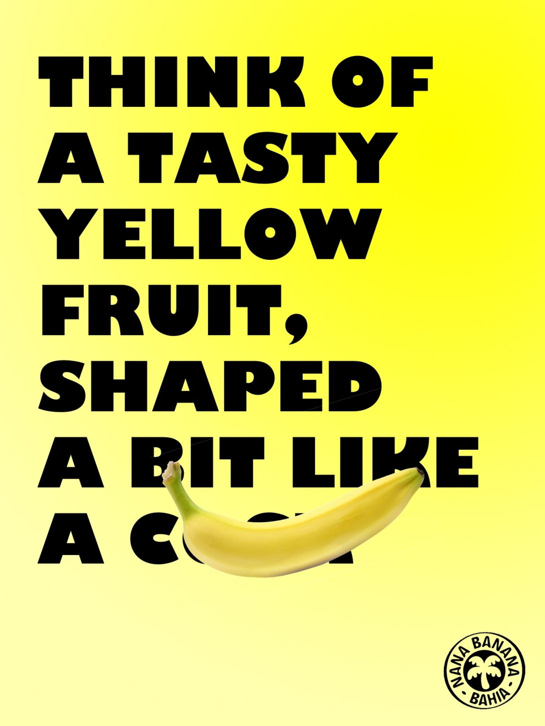 punchy advertising concept for bananas