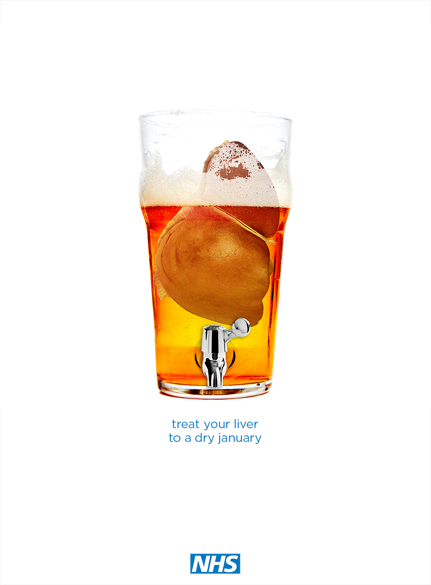 ad idea for dry january - treat your liver