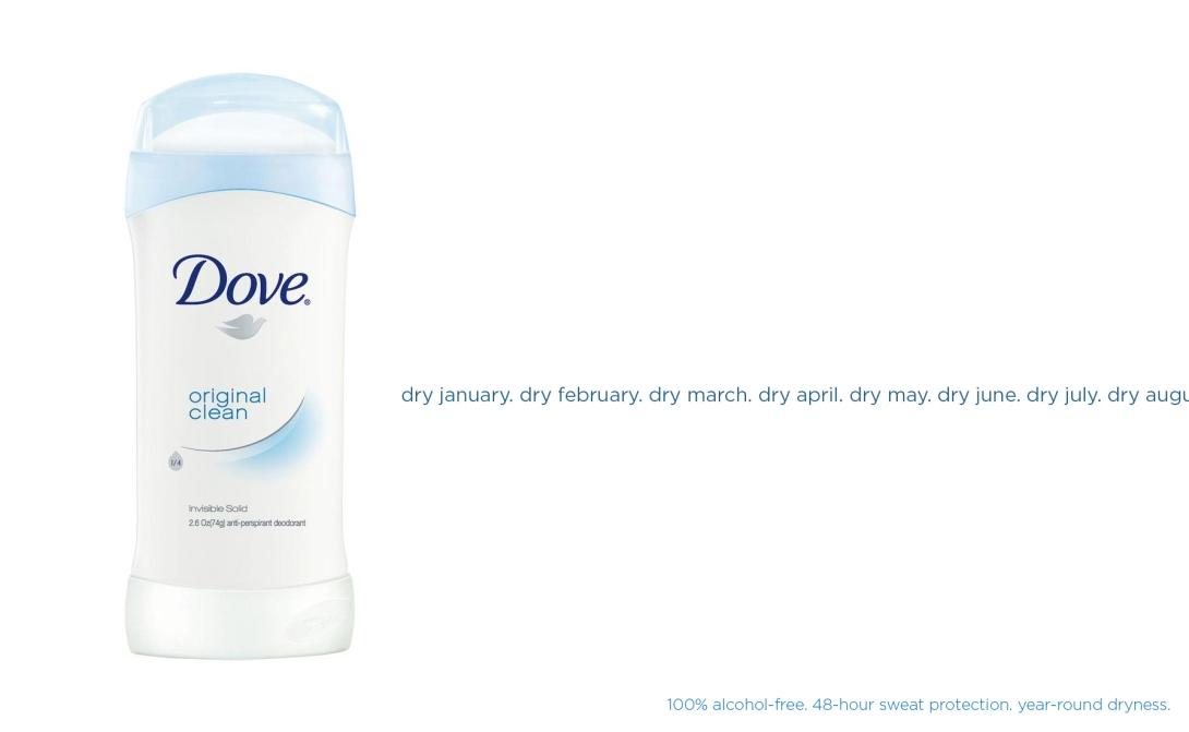 ad idea for dry january - alcohol-free anti-perspirant