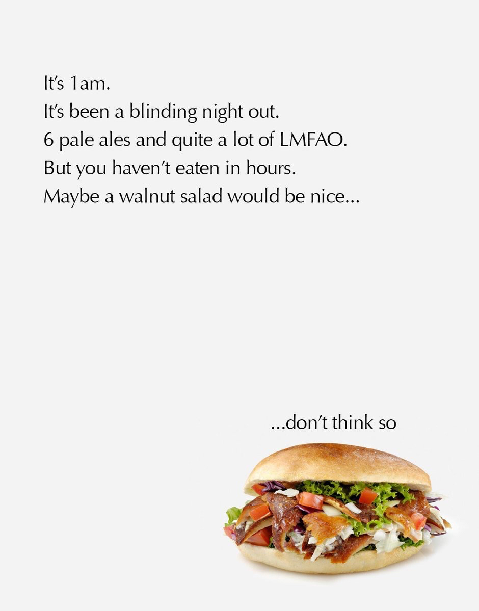 advertising idea for doner kebabs - storytelling