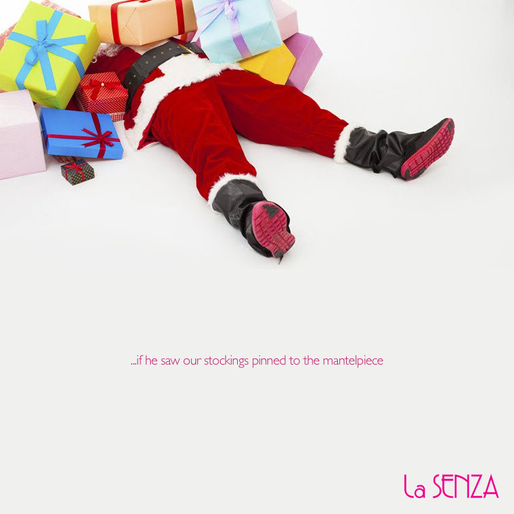 advertising concept for stockings - a reaction from Santa
