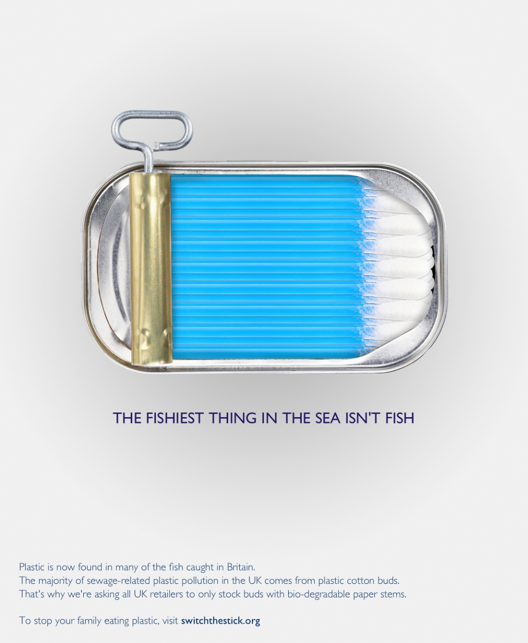 Ad idea to raise awareness of plastic pollution in the sea