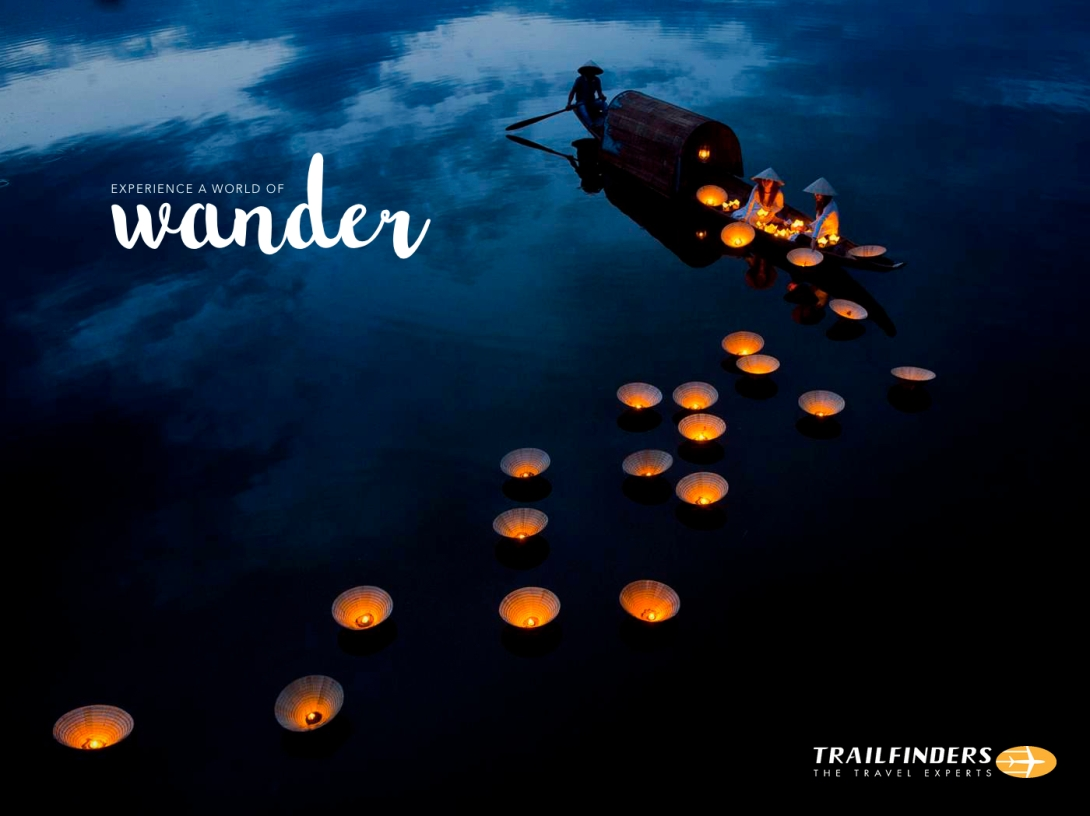 travel advertising concept - a world of wander