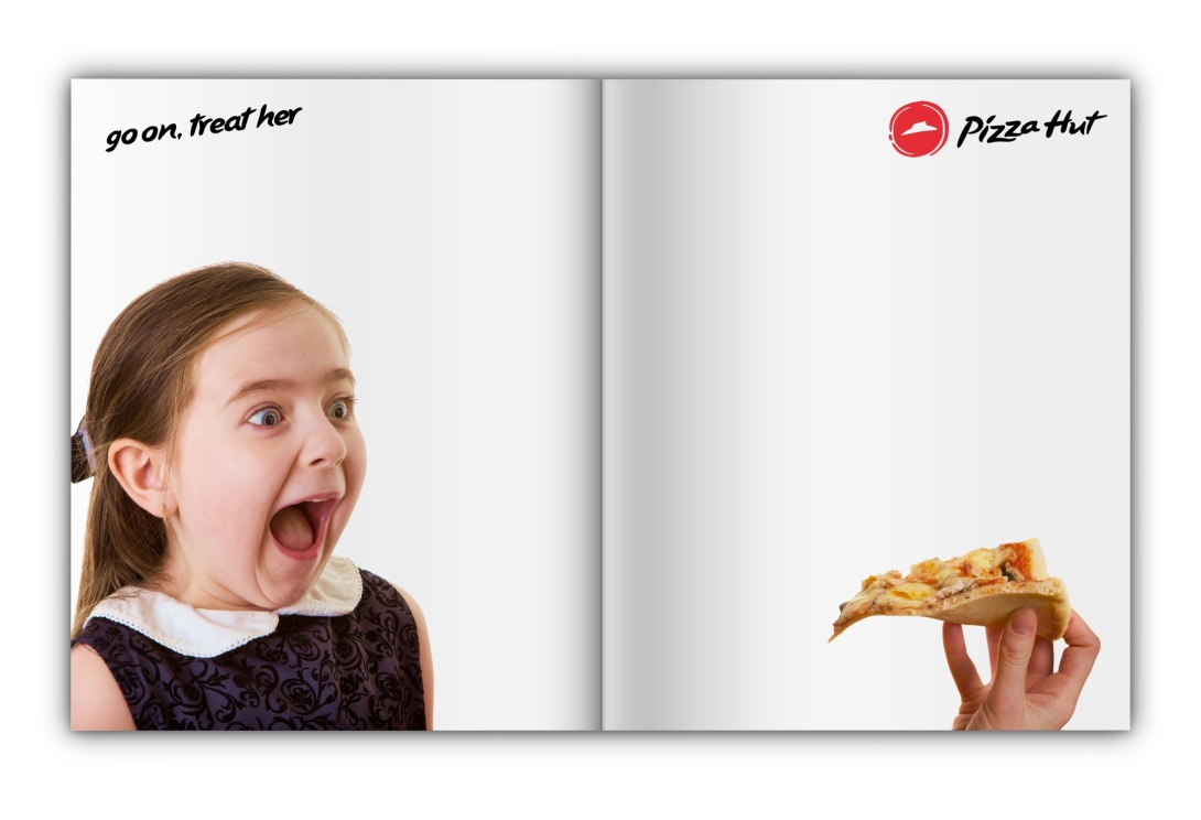 Advertising idea for pizza - magazine spread
