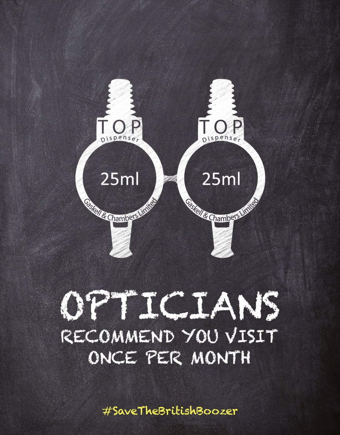ad idea to save the British boozer - optics opticians