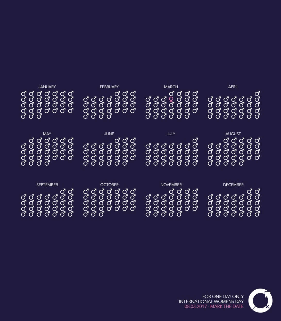 ad idea for international women's day - calendar