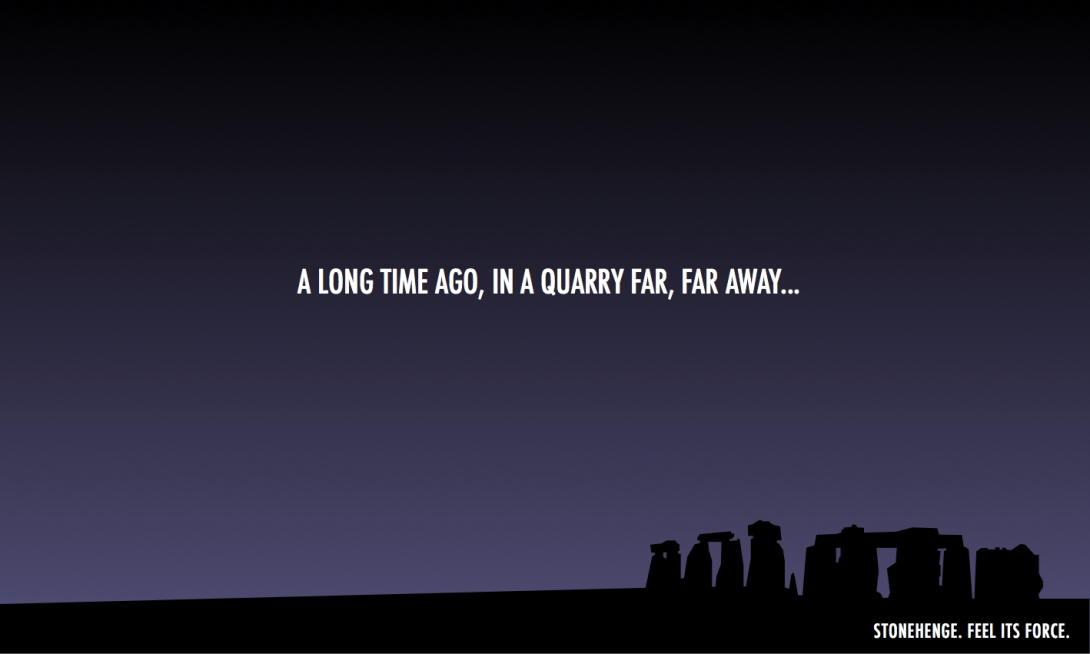 advertising idea for Stonehenge - a play on Star Wars