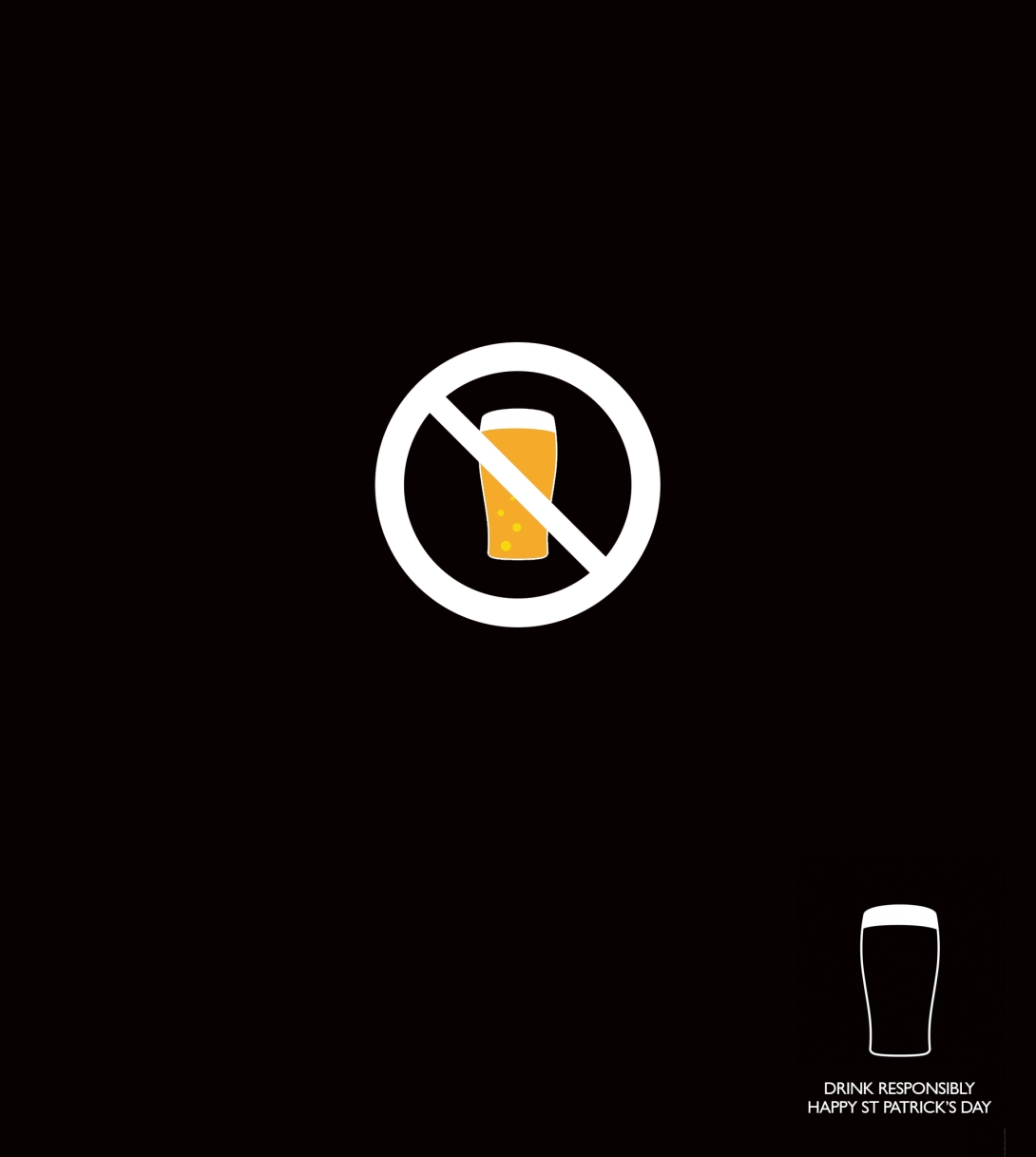 Advertising concept for St Patricks Day - drink responsibly