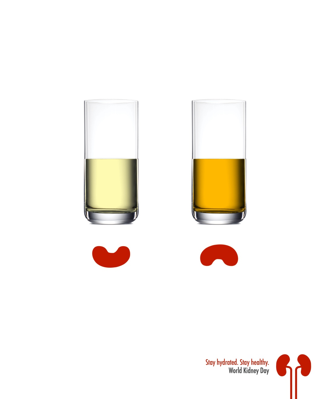 advertising concept for World Kidney Day - stay hydrated