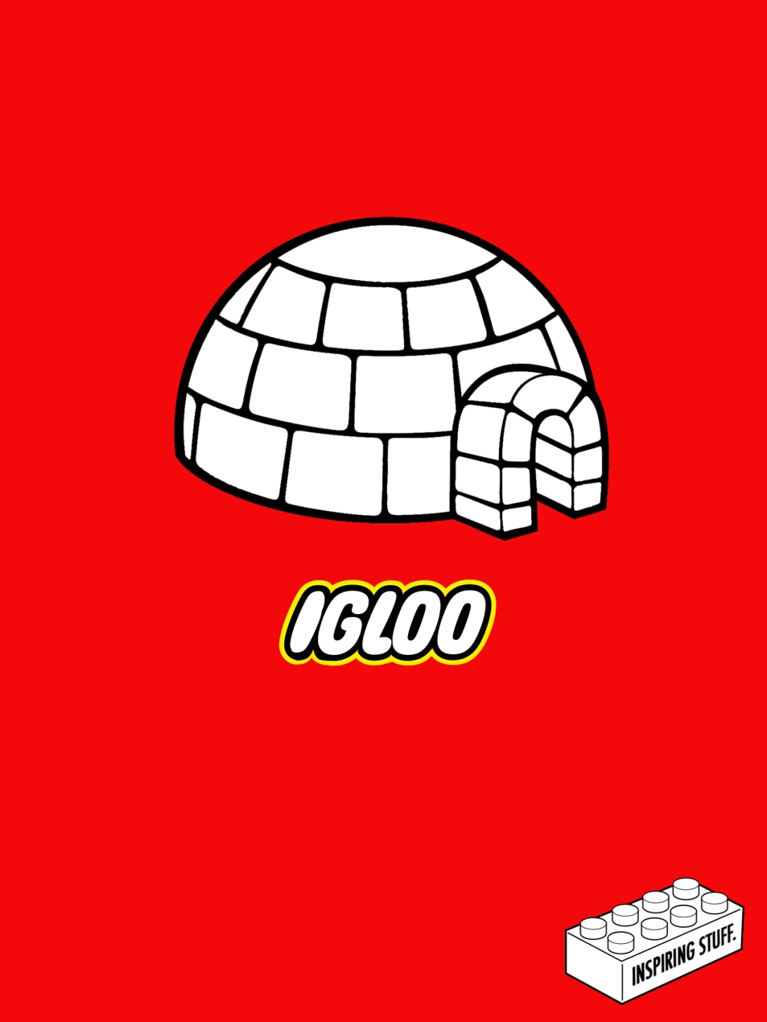 Ad idea for lego - igloo