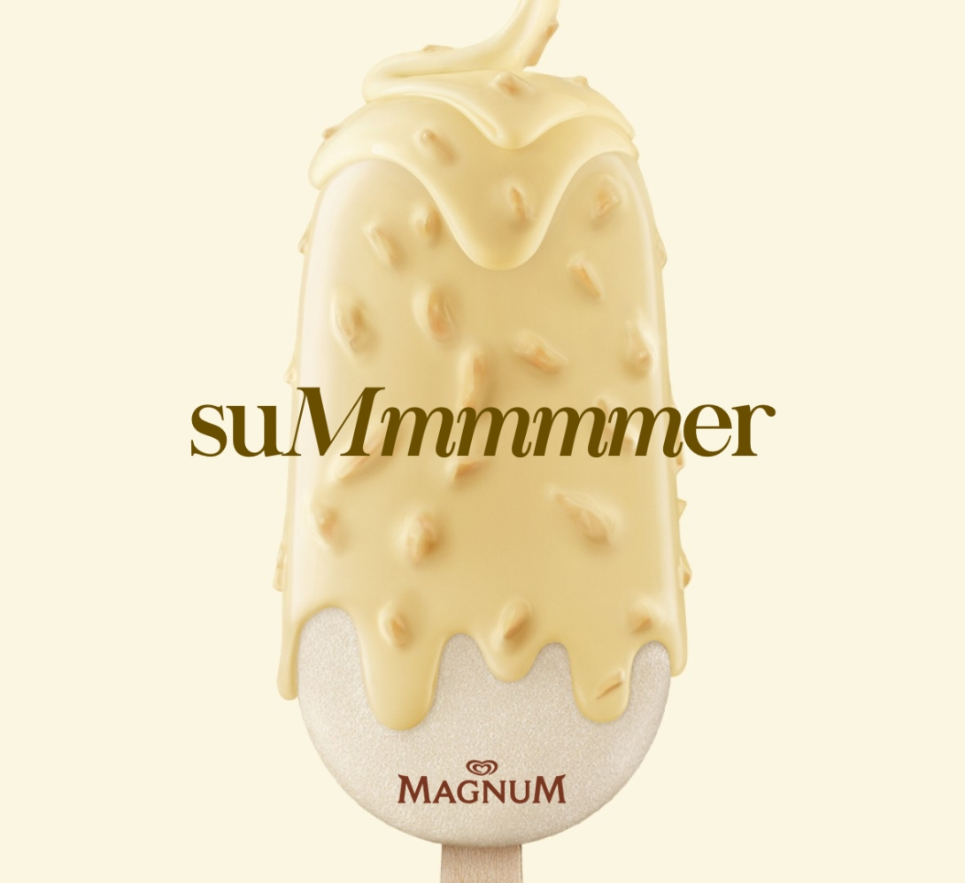 An advertising idea for ice cream - mmmm, summer