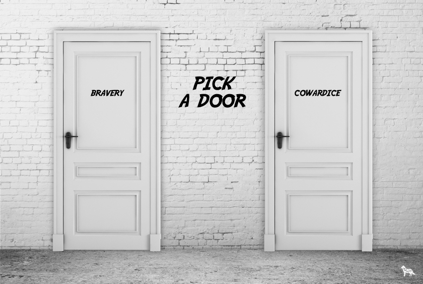 pick a door - bravery or cowardice - which sort of B2B marketer are you