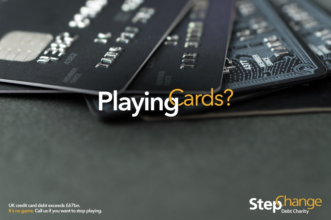 Advertising concept for a debt charity - playing cards