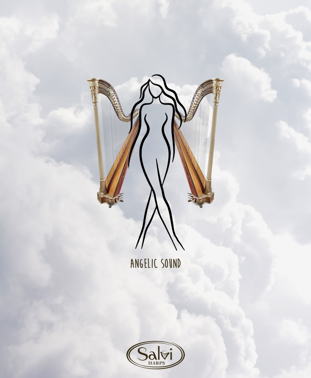 Advertising concept for a harps brand - angelic sound