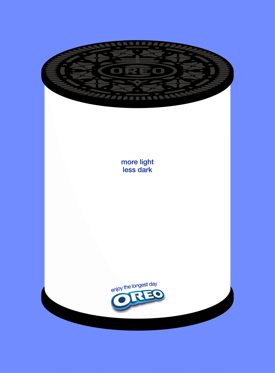 summer solstice advertising idea for oreo - more light and less dark