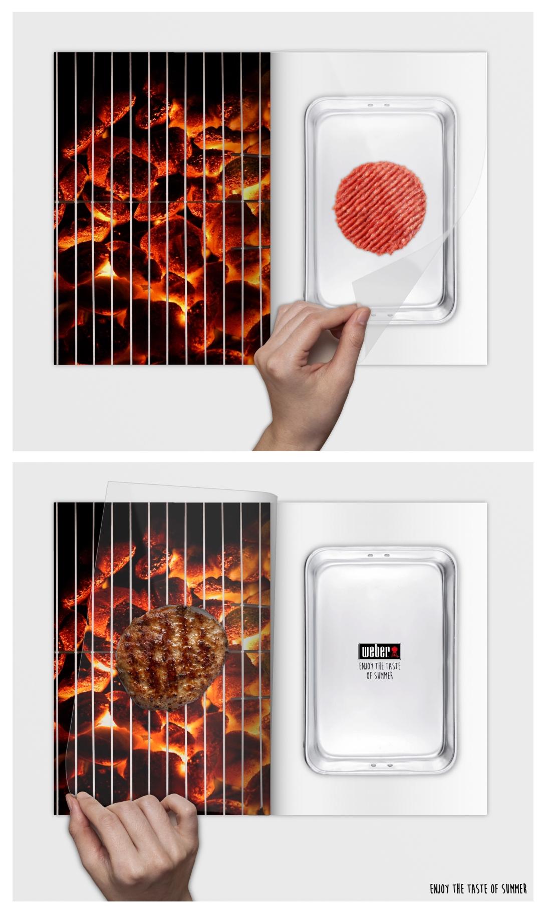 Flip the burger - a magazine spread idea for a BBQ brand