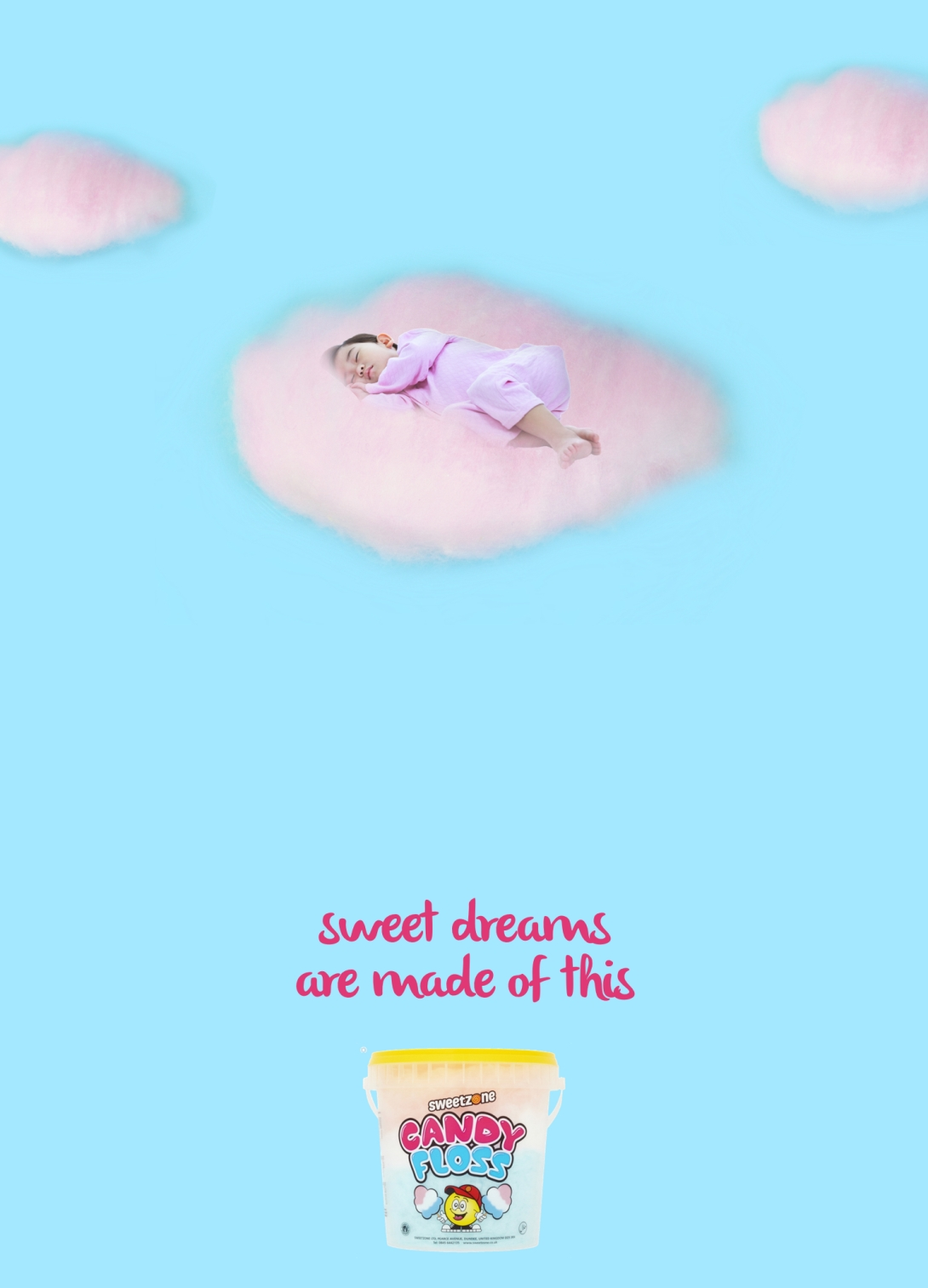 advertising idea for candy floss - sweet dreams are made of this