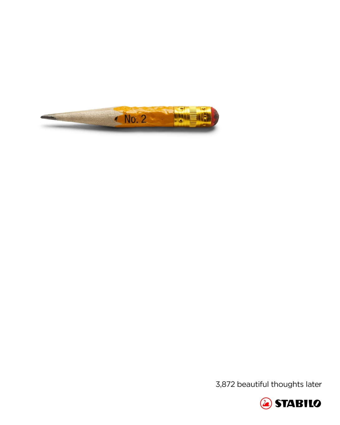 An advertising idea for a pencil brand - beautiful thoughts later