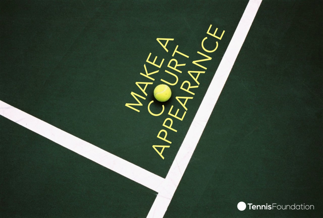 My advertising idea for a tennis school - make a court appearance