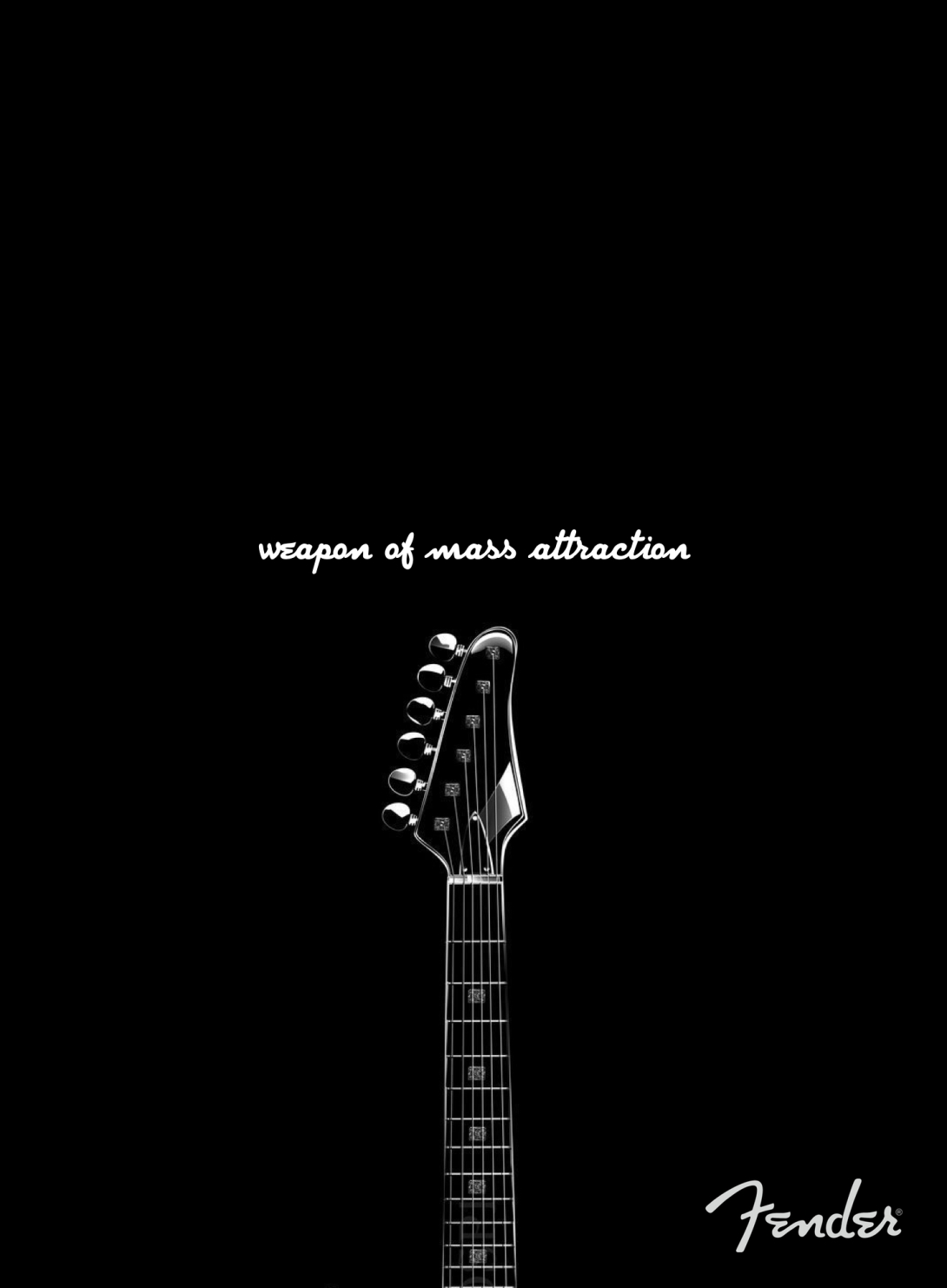 advertising idea for guitar brand - weapon of mass attraction