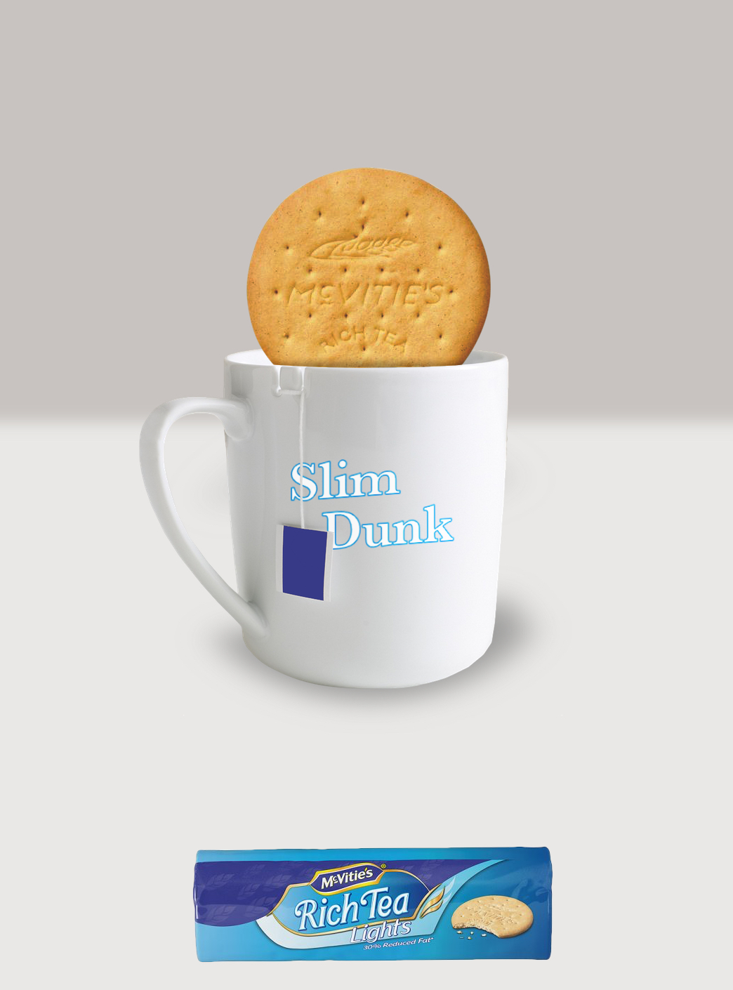 Advertising idea for Rich Tea Light Biscuits - slim dunk