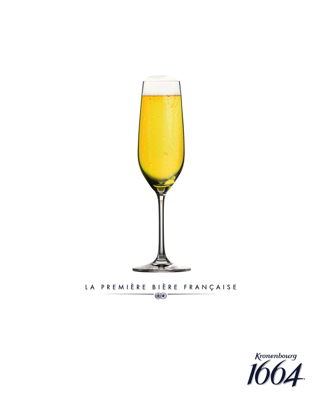 advertising idea for a premium beer brand - champagne flute