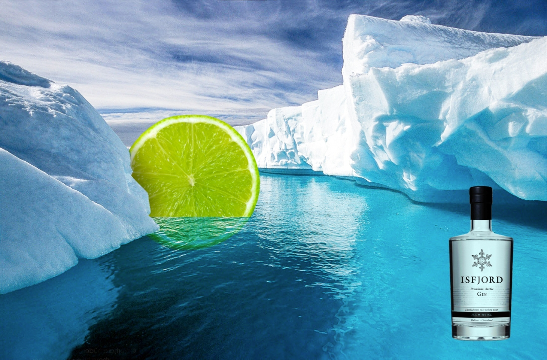 Advertising idea for an arctic gin and tonic brand