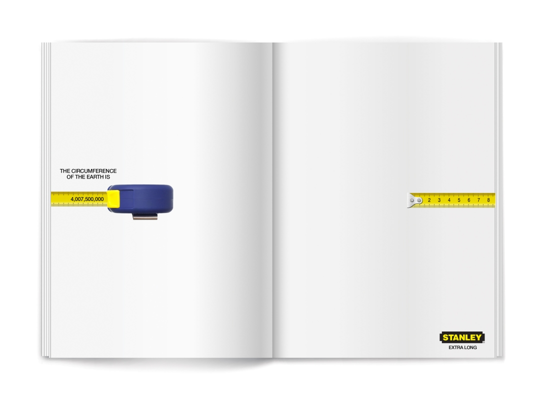 ad idea for a tape measure brand - extra long tape measures