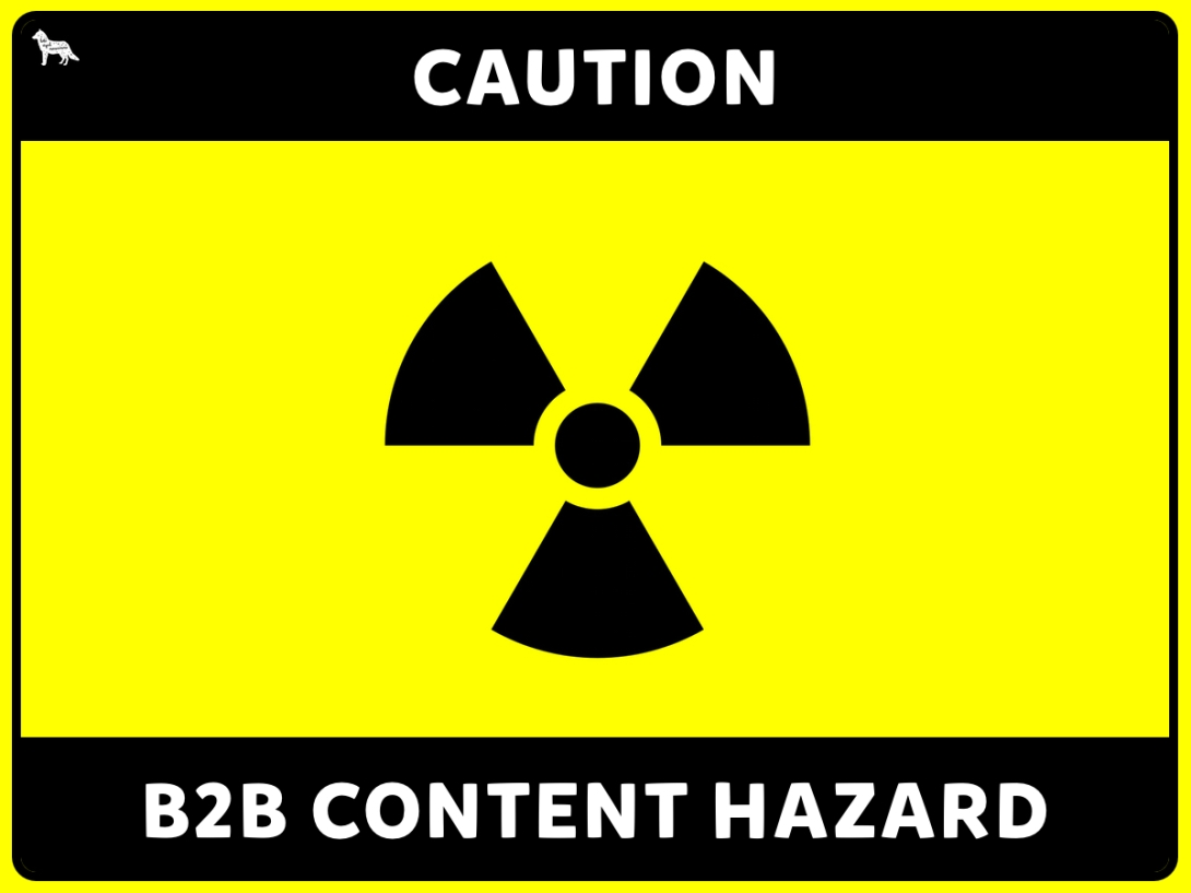 B2B content marketing hazard - less is more