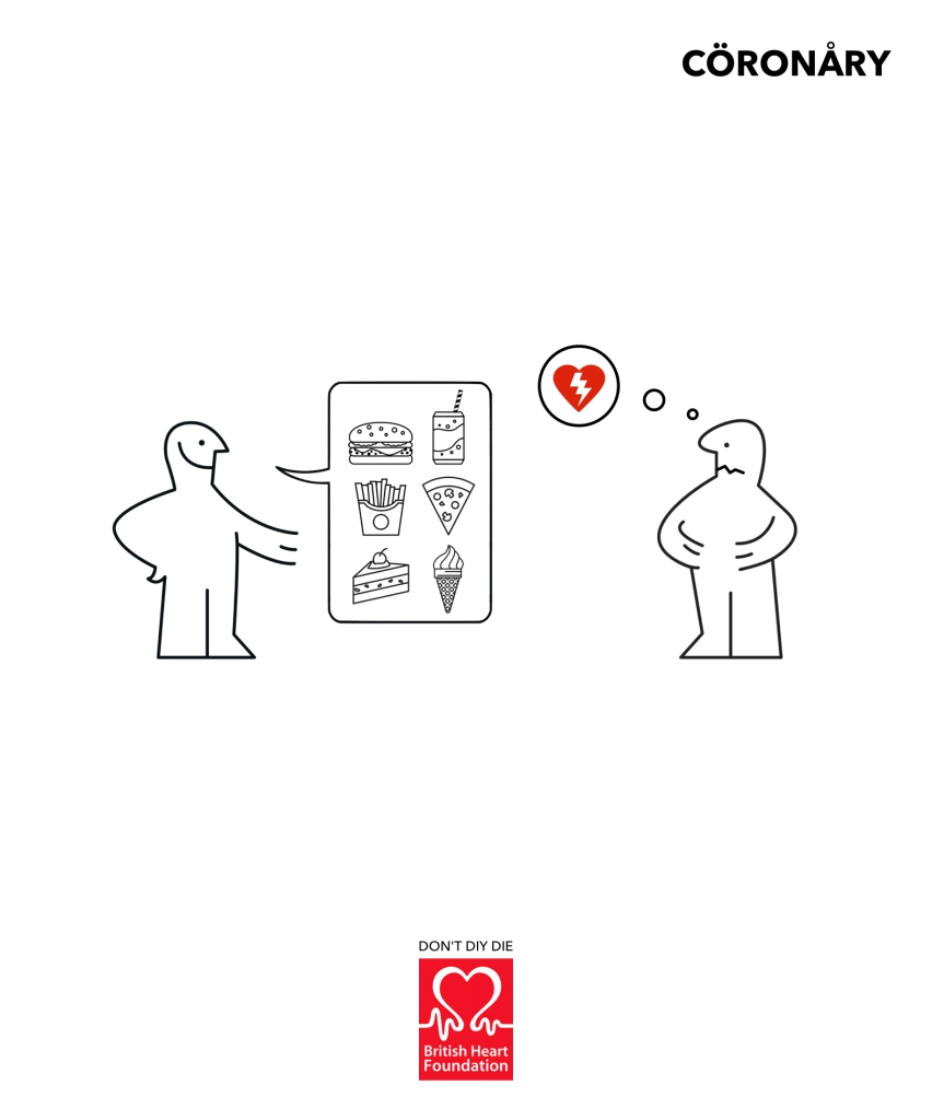 Advertising concept for a heart charity - don't DIY a heart attack