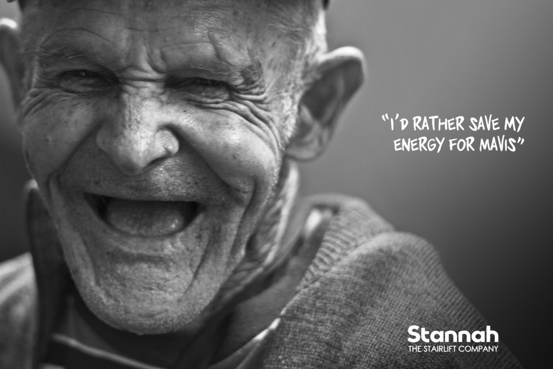 advertising concept for a stairlift brand - I'd rather save my energy for mavis