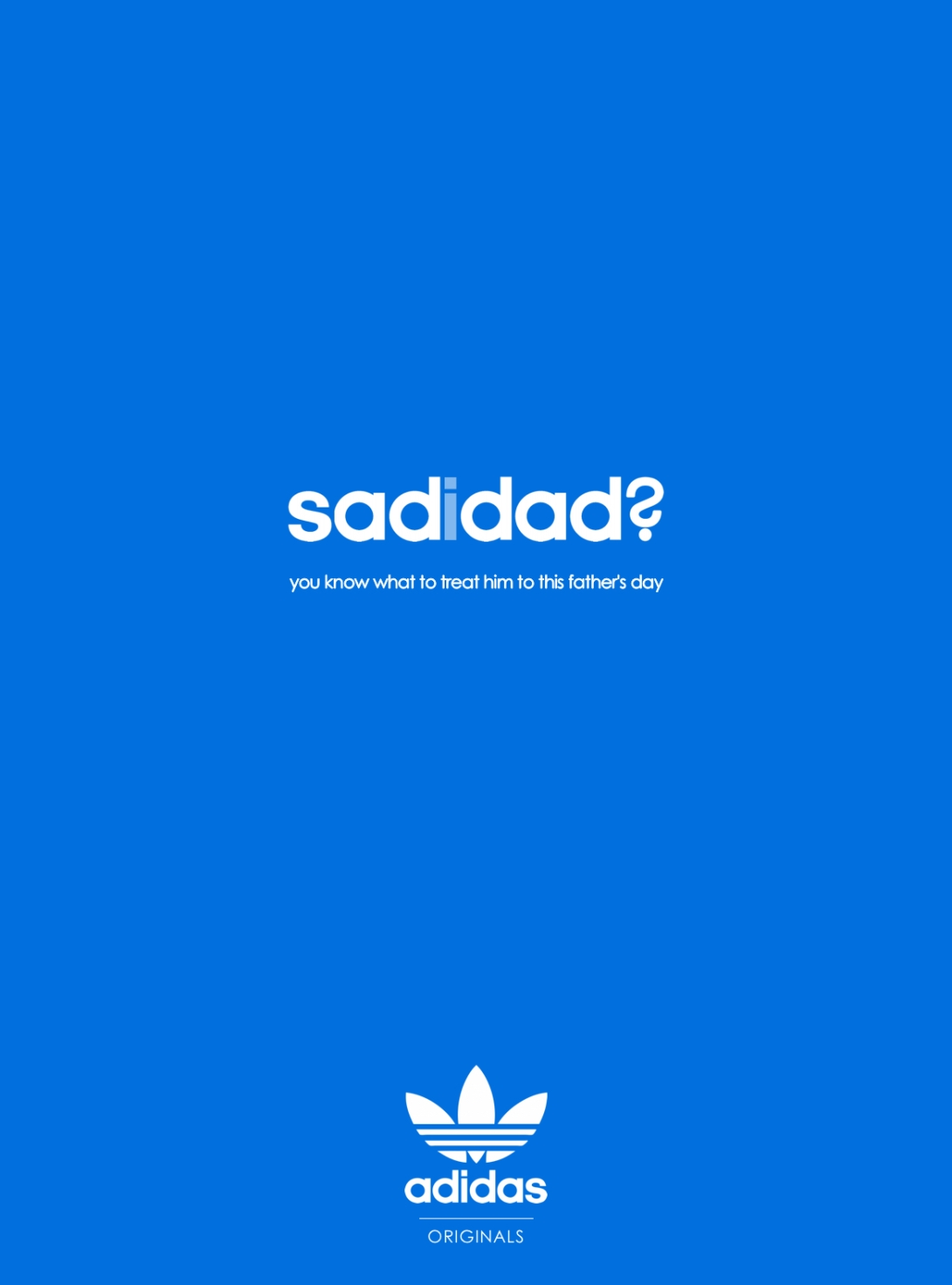 Father's Day advertising idea for a sports apparel brand: sad dad? adidas