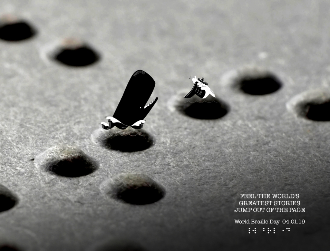 Advertising concept for World Braille Day - Moby Dick